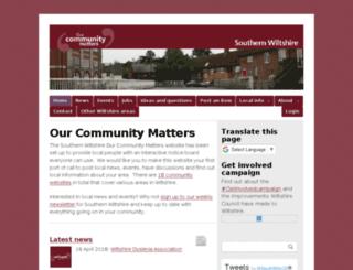 southernwilts.ourcommunitymatters.org.uk screenshot