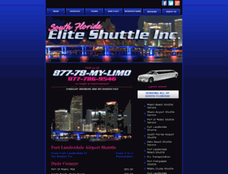 southfloridaeliteshuttle.com screenshot