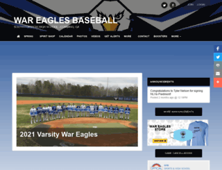 southforsythbaseball.com screenshot