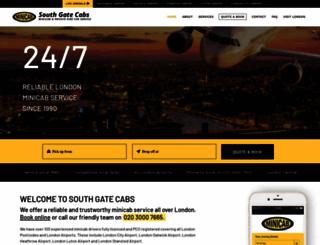 southgatecabs.co.uk screenshot