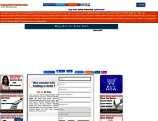 southindianbankpo.testbag.com screenshot