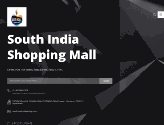southindiashoppingmall.nowfloats.com screenshot