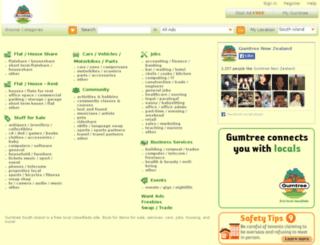 southisland.gumtree.co.nz screenshot