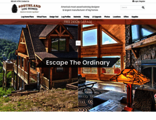 southlandloghomes.com screenshot