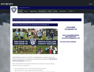 southoaklandsoccer.com screenshot