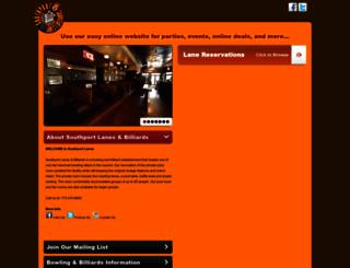 southportlanes.projectparties.com screenshot