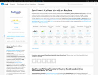 southwestairlinesvacations.knoji.com screenshot