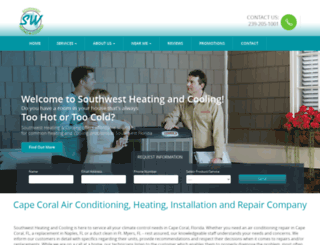 southwestheatingandcooling.com screenshot