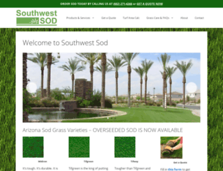 southwestsod.com screenshot