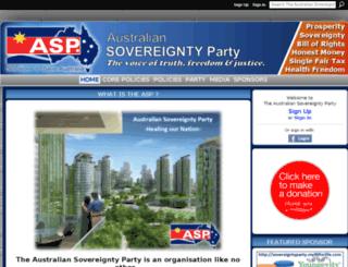 sovereigntyparty.ning.com screenshot