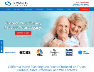sowardslawfirm.com screenshot