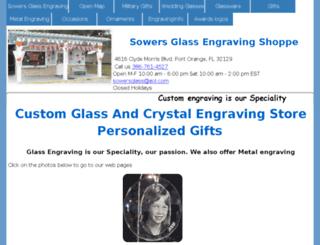 sowersglassengraving.com screenshot