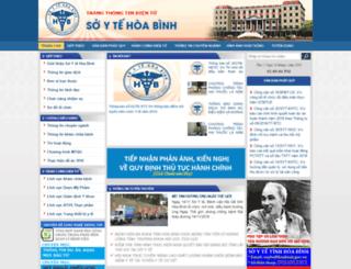 soyte.hoabinh.gov.vn screenshot