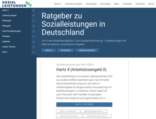 sozialleistungen.info screenshot