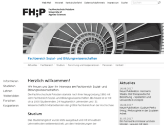 sozialwesen.fh-potsdam.de screenshot