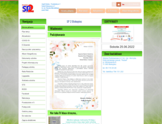 sp2biskupiec.edupage.org screenshot