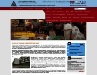 spa.ac.in screenshot