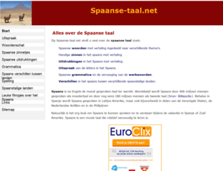 spaanse-taal.net screenshot