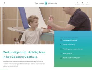 spaarneziekenhuis.nl screenshot