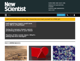 space.newscientist.com screenshot