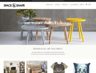spaceandshape.com screenshot