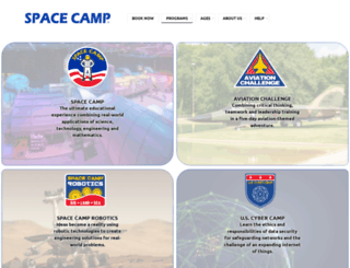spacecamp.com screenshot