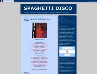 spaghettidisco.blogspot.com.ar screenshot