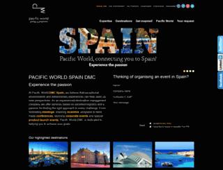 spain.pacificworld.com screenshot