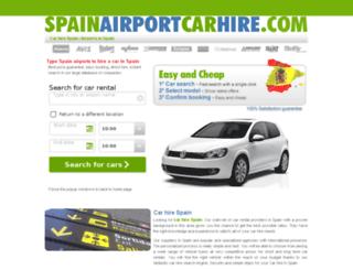 spainairportcarhire.com screenshot