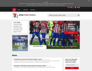 spainticketbureau.com screenshot