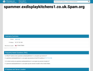 spammer.exdisplaykitchens1.co.uk.spam.org.ipaddress.com screenshot
