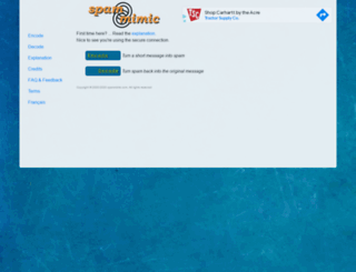spammimic.com screenshot