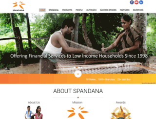 spandanaindia.com screenshot