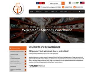 spandexwarehouse.com screenshot