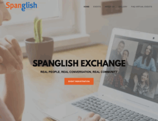 spanglishexchange.com screenshot