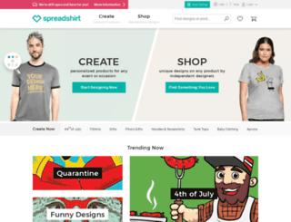 spaniards.spreadshirt.com screenshot