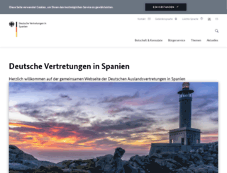 spanien.diplo.de screenshot