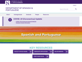 spanish-portuguese.northwestern.edu screenshot