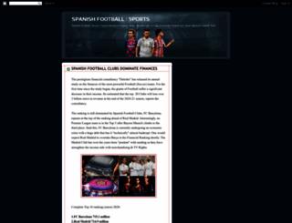 spanishfootballsports.blogspot.com screenshot