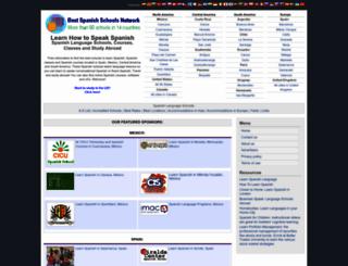 spanishlanguageschools.net screenshot