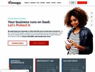 spanning.com screenshot