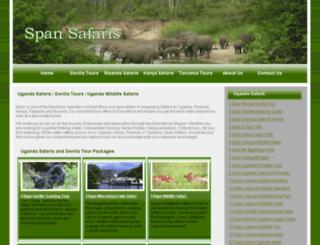 spansafaris.com screenshot