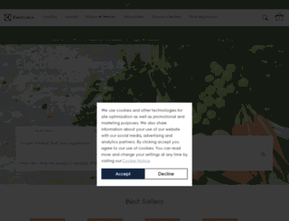 spares.electrolux.ie screenshot
