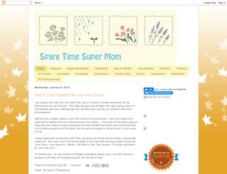 sparetimesupermom.blogspot.com screenshot