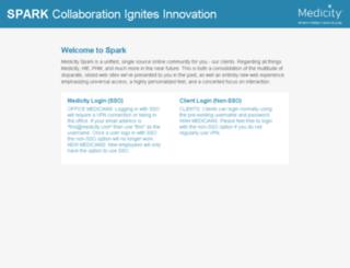 spark.medicity.com screenshot