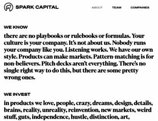 sparkcapital.com screenshot