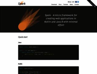 sparkjava.com screenshot