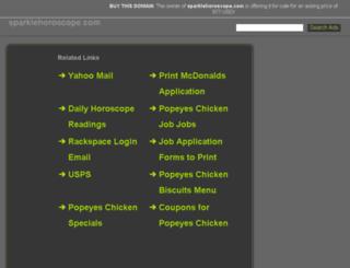 sparklehoroscope.com screenshot