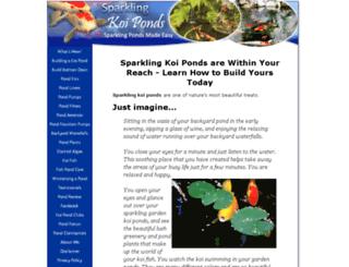 sparkling-koi-ponds.com screenshot
