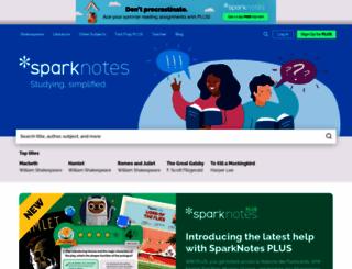 sparknotes.com screenshot